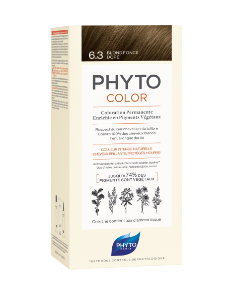 PHYTOCOLOR 6.3 Dunkels Goldbr. 2x50 ML
