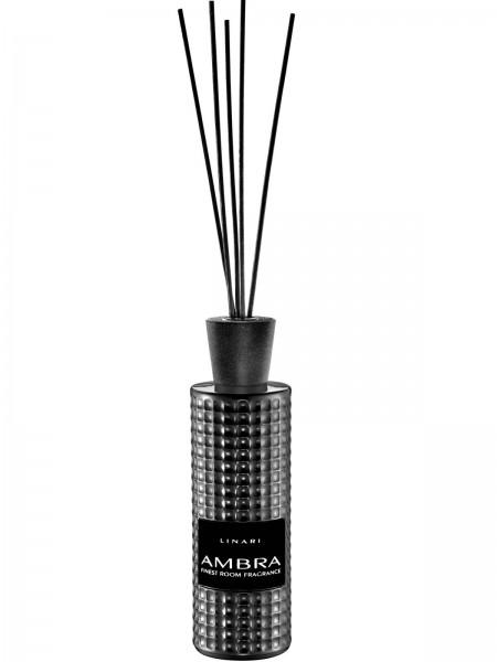 LINARI DIFFUSOR AMBRA mit schwarzen Stäbchen 500ml