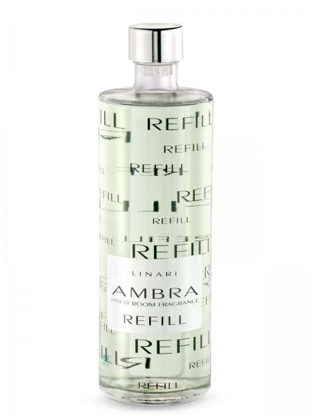 LINARI DIFFUSOR-REFILL AMBRA mit schwarzen Stäbchen 500ml